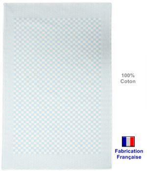Torchons Traditionnels bleu, fabrication française, 100% Coton