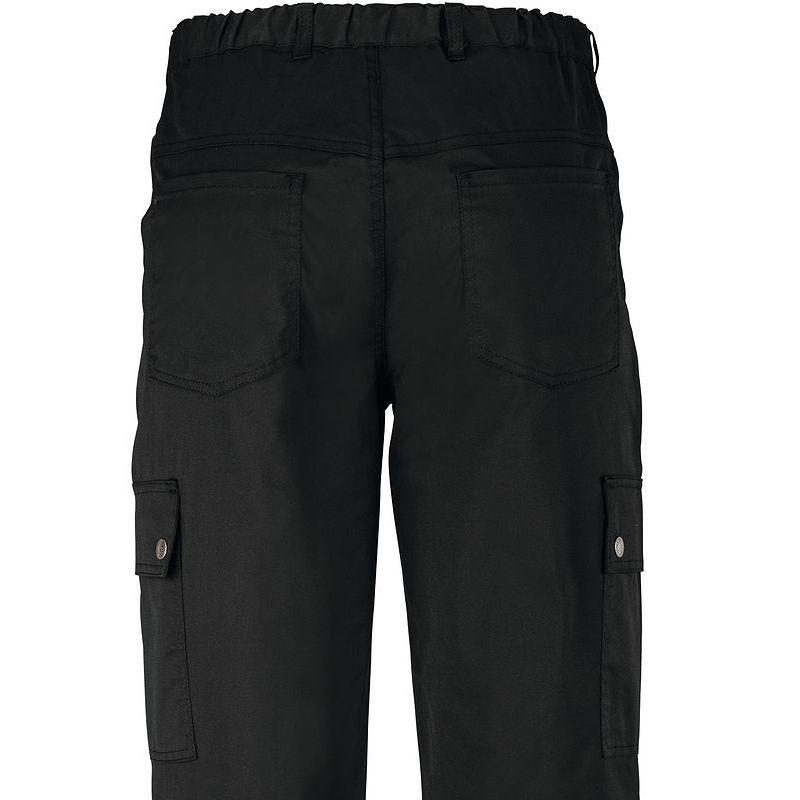 pantalon cargo homme polycoton noir stretch 6 poches. Black Bedroom Furniture Sets. Home Design Ideas