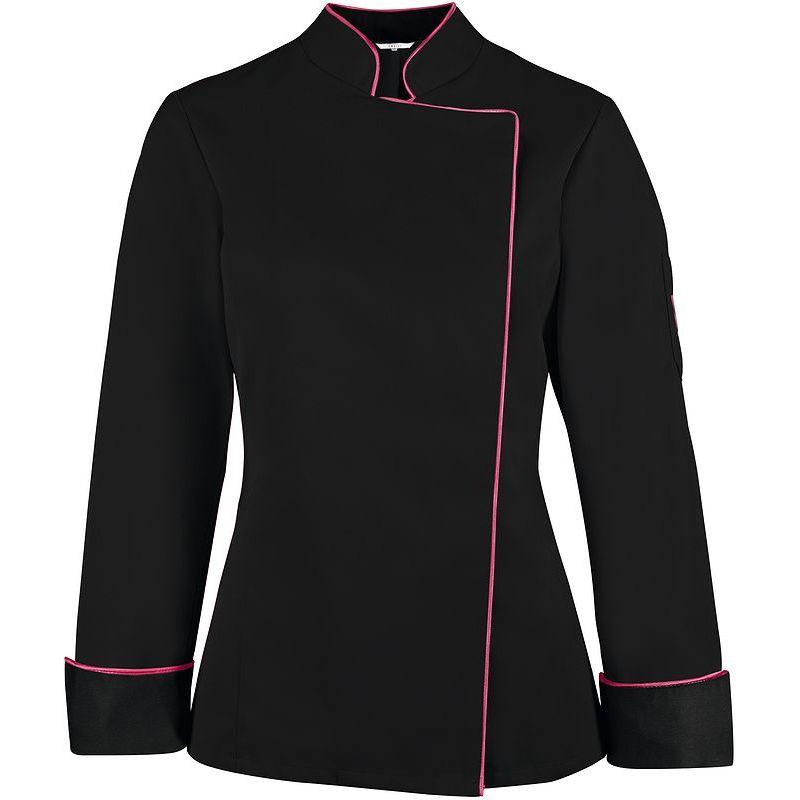 veste de cuisine femme passepoil en couleur contrast es. Black Bedroom Furniture Sets. Home Design Ideas