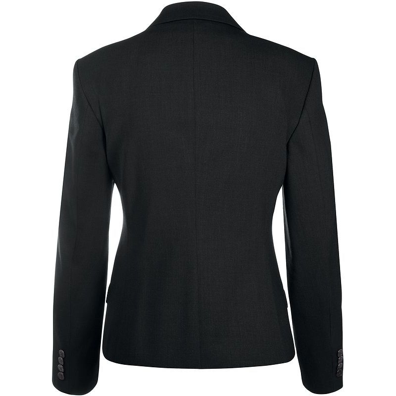 Blazer Femme Noir Coupe Droite Classique Confortable
