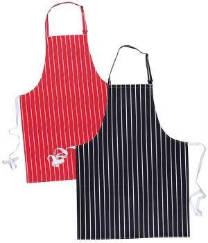 tablier cuisine à bavette de restaurant, à rayures