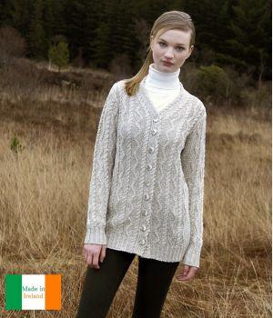 Belle veste légère pour femme, Coton et Lin, Couleur écru