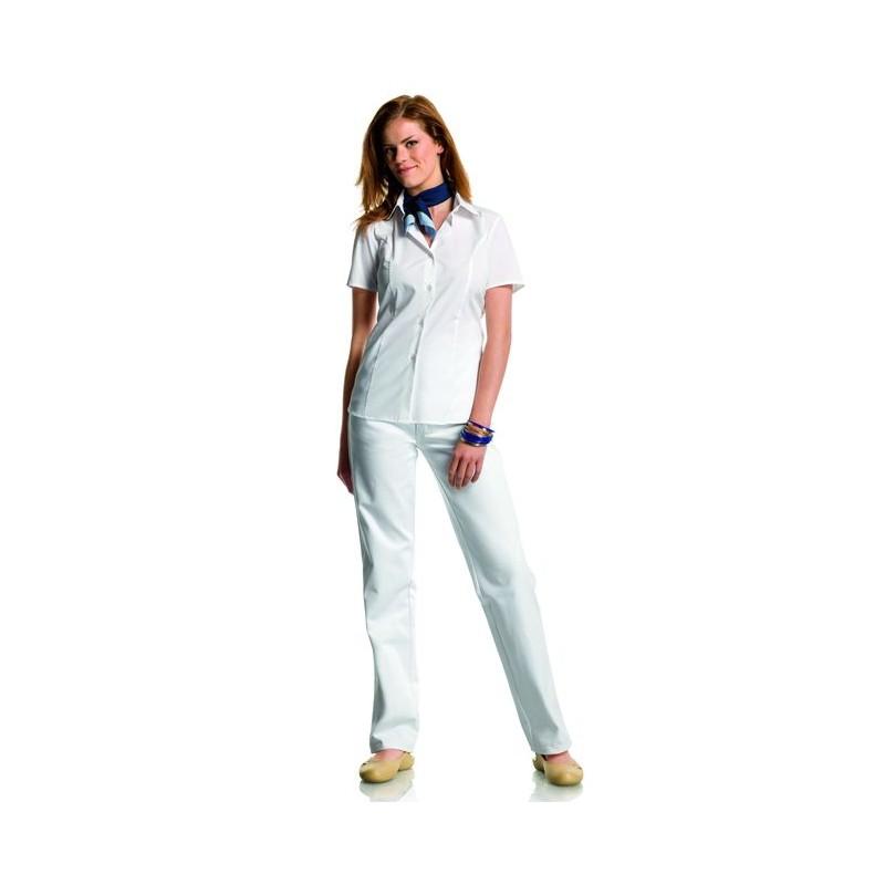 chemisier blanc femme manches courtes stretch peut bouillir. Black Bedroom Furniture Sets. Home Design Ideas