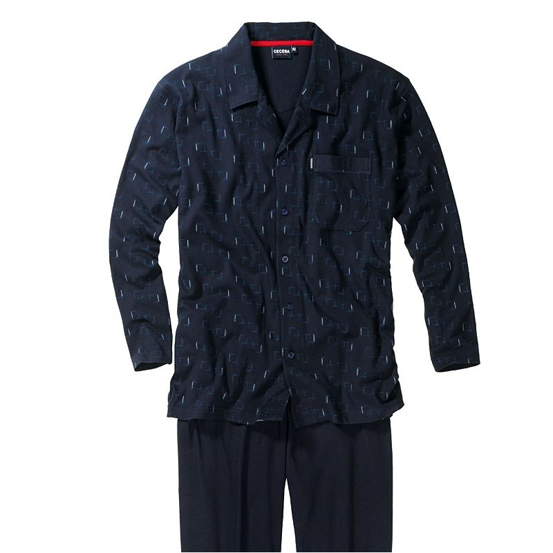 pyjama homme 100 coton popeline chic et confortable veste boutons. Black Bedroom Furniture Sets. Home Design Ideas
