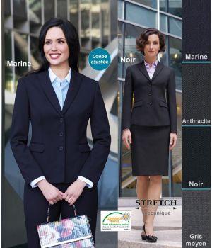 Veste Femme, Coupe ajustée, résistance, fluidité et élégance