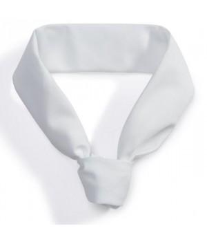 Tour de cou blanc, 100% coton, peut bouillir à 95 °C, blanc,