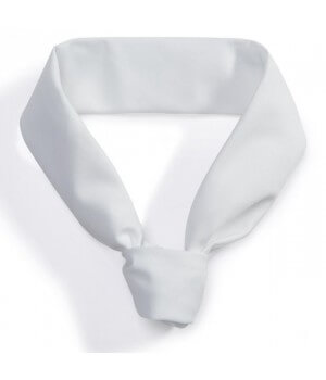 Tour de Cou Cuisinier Blanc, 100% Coton, peut bouillir à 95 °C