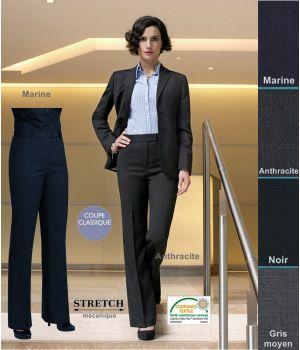 Pantalon Femme, Coupe Classique, résistance, fluidité et élégance
