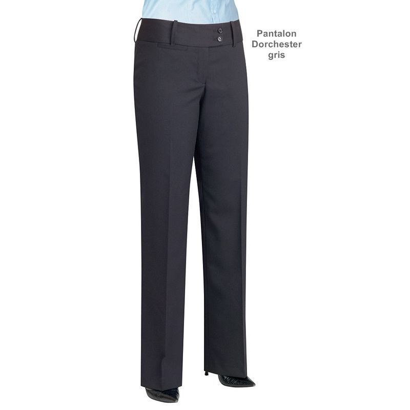 Pantalon femme taille basse coupe droite r sistance - Pantalon femme taille haute coupe droite ...