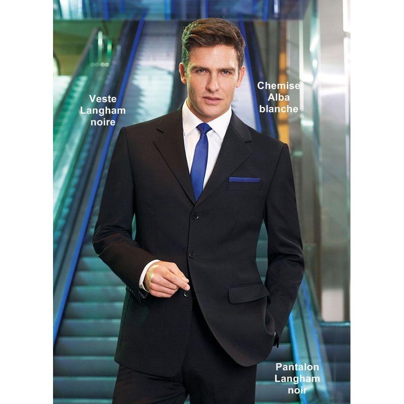 ... Veste costume Homme 3 boutons Noir Pantalon assorti ... 8e1de66bec4