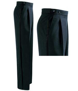Pantalon de smoking Homme, Noir, pince, Polyester et Laine