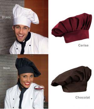Toque chef cuisinier, Fermeture facile par velcro, Taille ajustable, Fabriqué en Allemagne