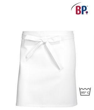 Tablier chef, bistro, restaurant, blanc coton, peut bouillir, 60x75 cm