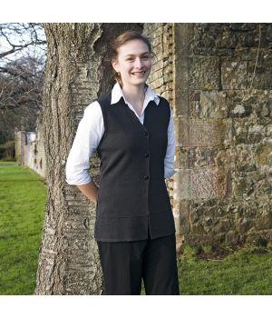 Débardeur femme, laine mérinos et acrylique, traité Téflon anti taches et anti boulochage