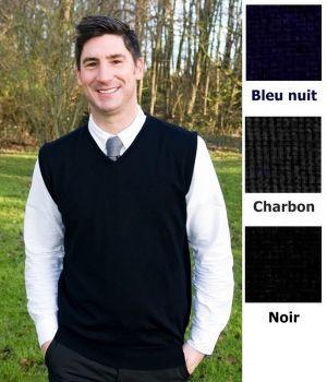 Débardeur homme, Coton et acrylique, Toucher doux, Lavable en machine
