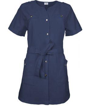 Blouse Tunique Marine Femme, Style Sport, épaulettes, Boutons pression