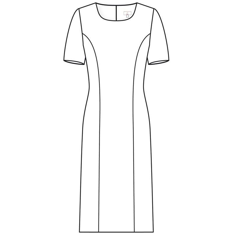 Premium Robe Col Boulochage Rectangle Anti Infroissable p0U0Rq