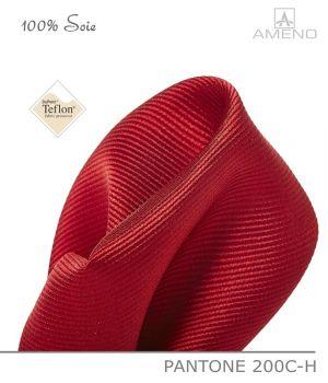 Pochette de costume 100% Soie, Rouge Groseille, Doux au toucher, Carré 25 x 25 cm