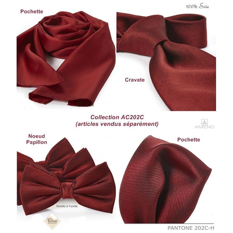 219d75dba6893 Foulard Femme 100% Soie, Bordeaux, Doux au toucher, 20 x 160 cm