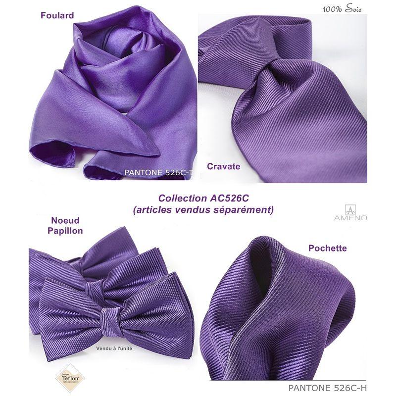 ... Foulard Femme 100% Soie Violet Traité anti tache 20 x 160 cm 0bcf24aaba1