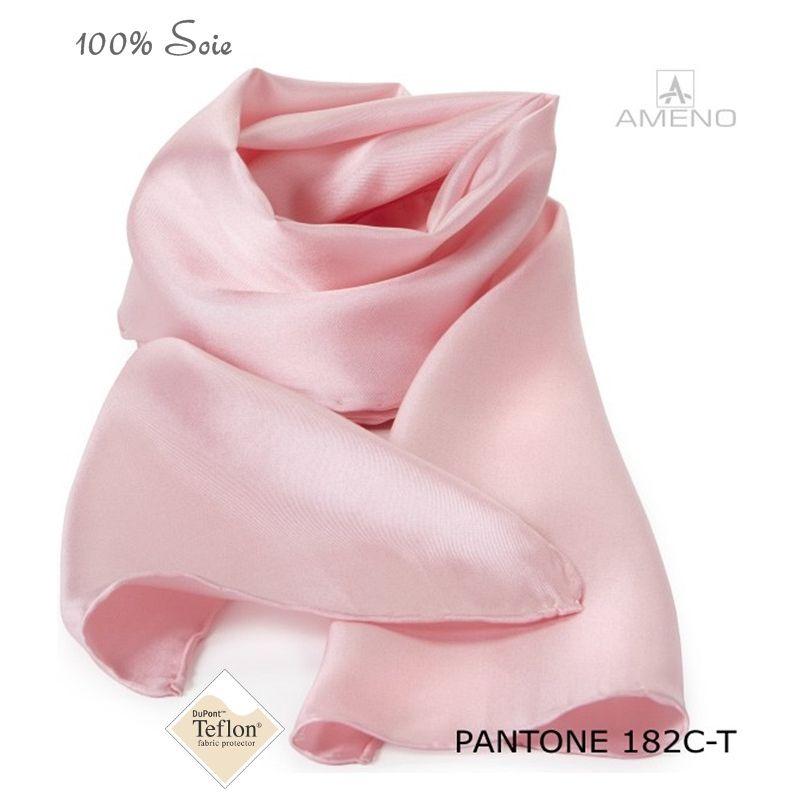 320fd0d1413 Foulard rose femme echarpe coton femme