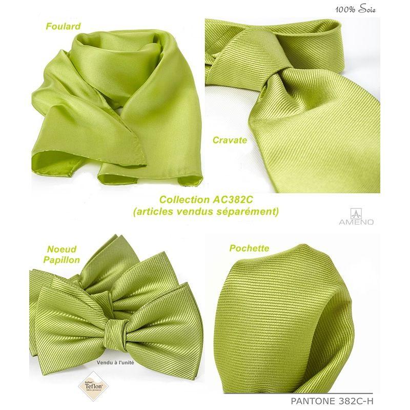 pochette de costume 100 soie vert chartreuse doux au toucher carr 25 x 25 cm. Black Bedroom Furniture Sets. Home Design Ideas