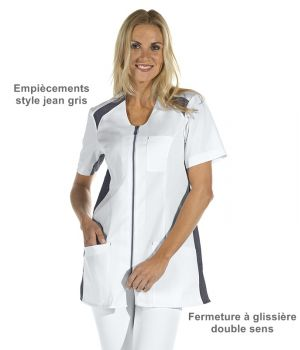 Blouse médicale courte femme, Taille 38