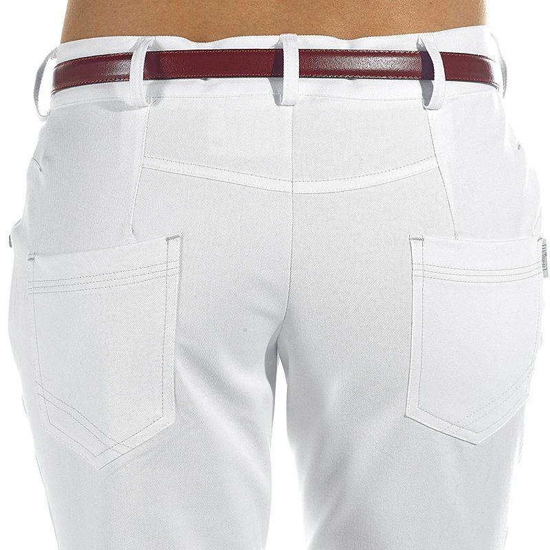 ... Pantalon blanc 5 poches femme Stretch coupe jean · Pantalon blanc femme,  Coupe 5 poches, Boutons tendance et rivets décoratifs ... d78cd9e70e70