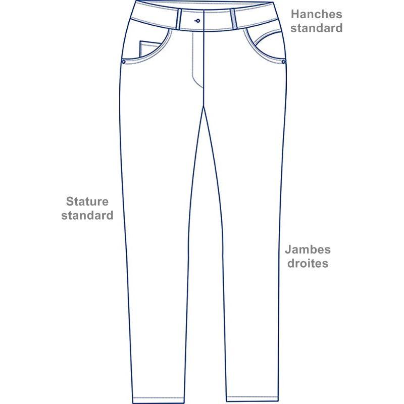 ... Boutons tendance et rivets décoratifs · Pantalon blanc femme Stretch 5  poches Schéma ... 918f4c62f0c6