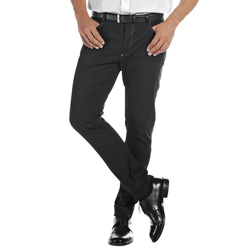 pantalon homme jean noir 5 poches coupe mode jambes troites stretch. Black Bedroom Furniture Sets. Home Design Ideas