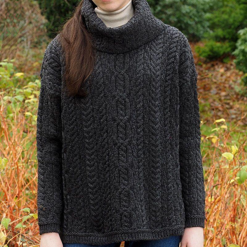 Chandail laine mérinos femme pull long en laine   Arts4a 156ba41c2308