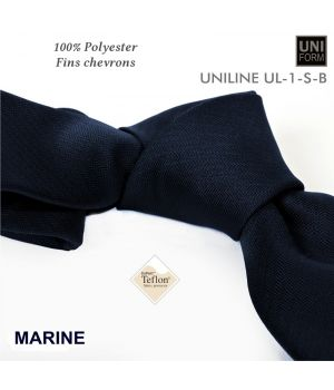 Cravate Bleu marine, 100% Polyester, 8,5 x 155 cm, Protection anti-tache