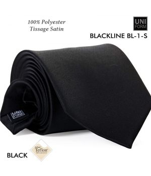 Cravate Noire, 100% Polyester, 8,5 x 148 cm, Protection anti-tache