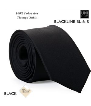 Cravate Noire, 100% Polyester, 5,5 x 148 cm, Protection anti-tache