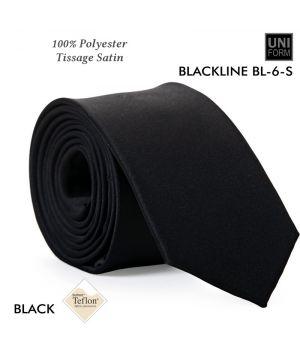 Cravate Noire, 100% Polyester, 5,5 x 148 cm, Protection anti-tache
