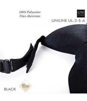 Cravate Noire, Pré-nouée, Polyester, 8.5 x 45 cm, anti-tache, élastique et Velcro