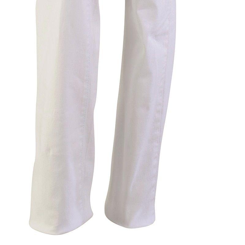 Pantalon Jean Femme, Blanc, Coton et élasthanne, Rivets, poches revolver 0e7be87ca17
