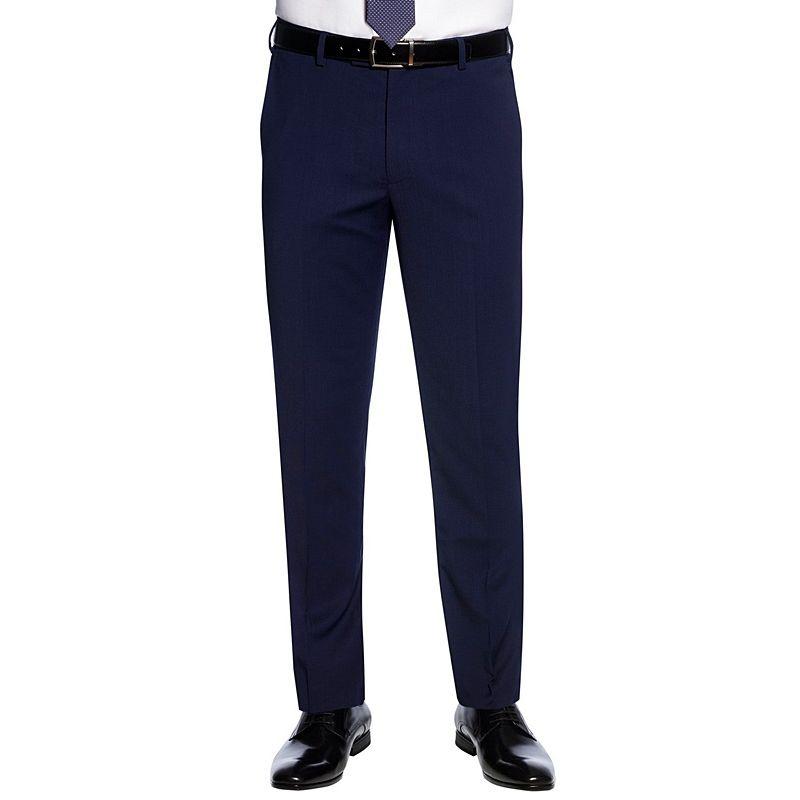 Pantalon de costume Homme, Coupe Slim, Sans pinces, 2