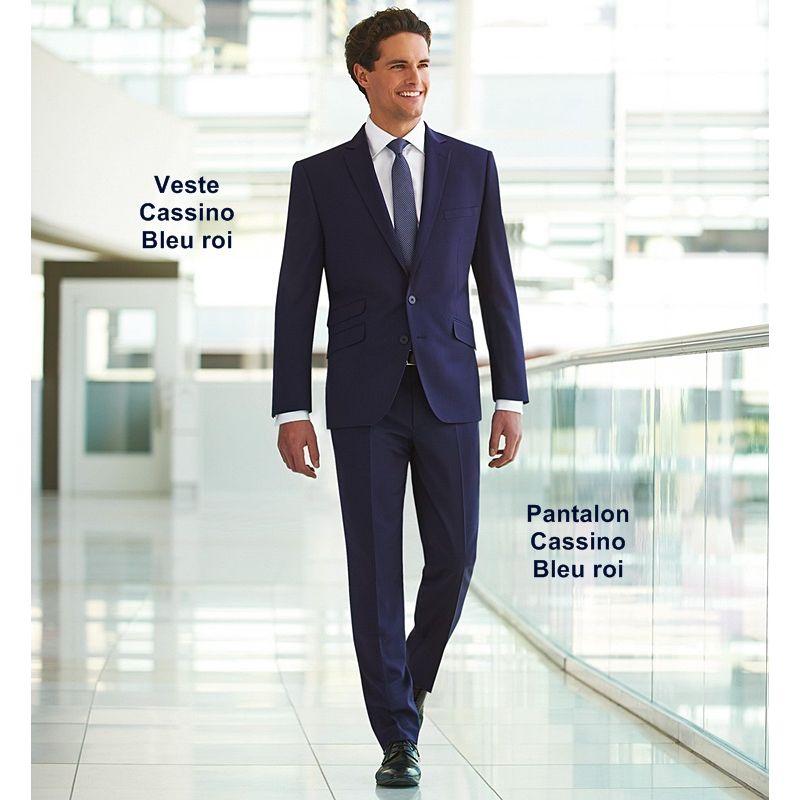 Pantalon de costume Homme, Coupe Slim, Sans pinces, 2 poches avant bcf8bf819195