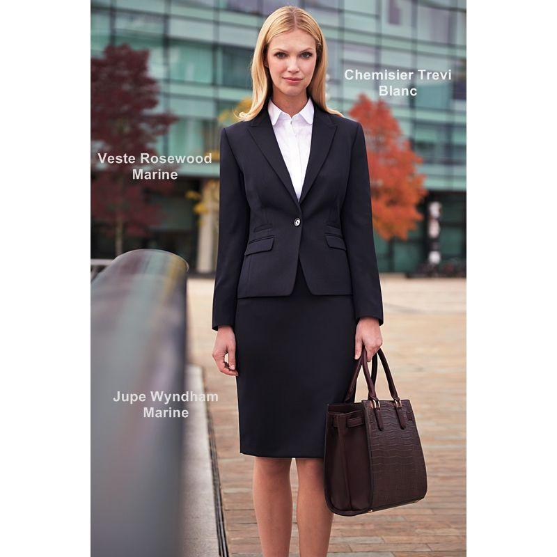 veste femme coupe courte et slim 1 bouton 4 poches sans fente. Black Bedroom Furniture Sets. Home Design Ideas
