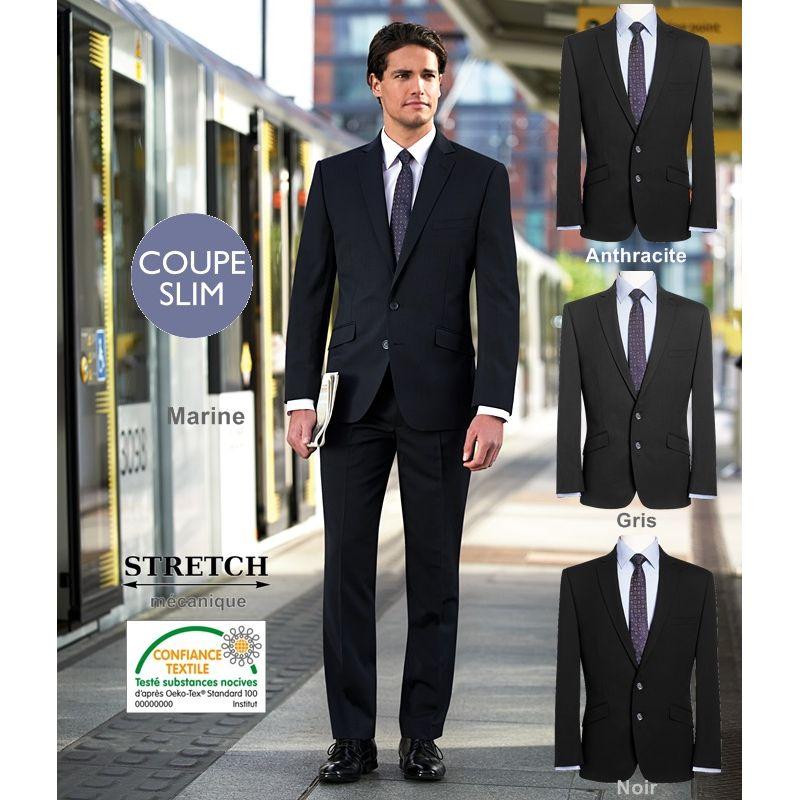 veste homme chic coupe courte et slim 2 boutons revers avec surpiqure. Black Bedroom Furniture Sets. Home Design Ideas