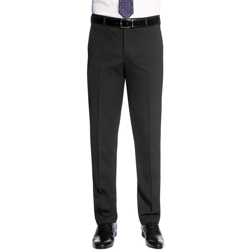 3592ef7d788b4 ... Pantalon ville Homme Slim Sans pince polyester-laine Gris ...