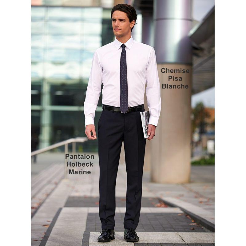 pantalon homme coupe slim sans pinces polyester et laine. Black Bedroom Furniture Sets. Home Design Ideas
