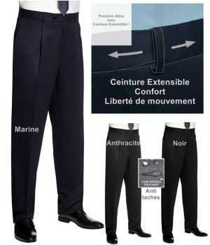 Pantalon homme, Ceinture extensible Confort et Liberté de mouvement
