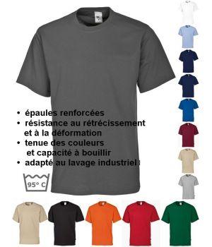 T-shirt femme et homme, manche courte, peut bouillir, résistant au chlore