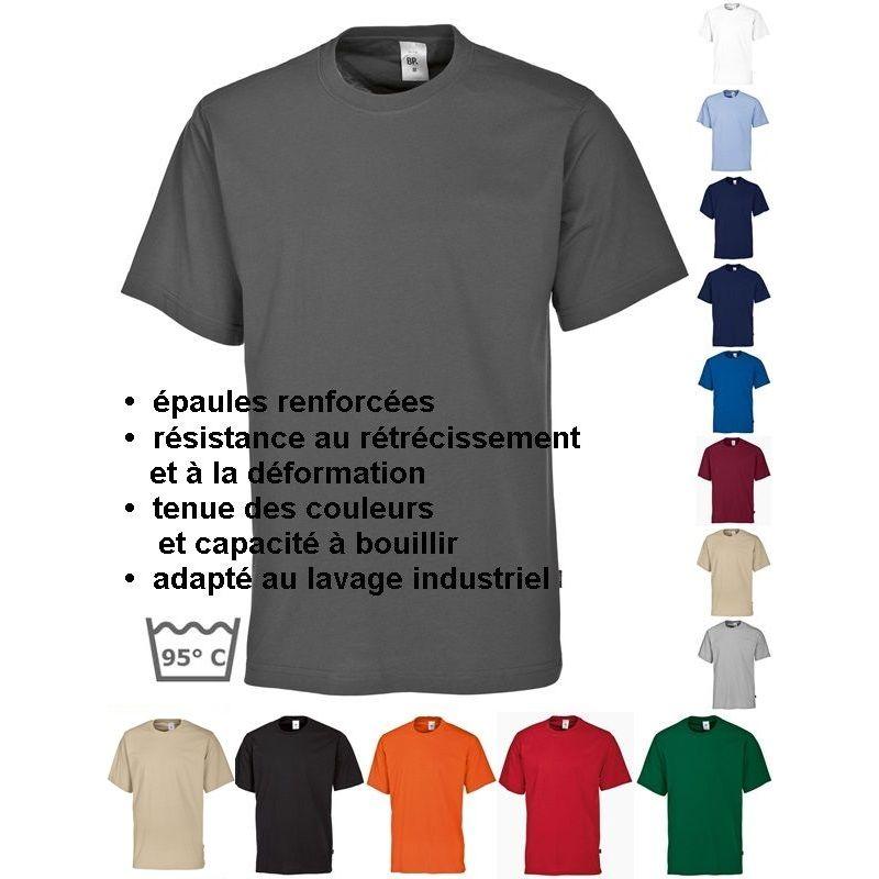 04dd28102251e T-shirt femme et homme, manche courte, peut bouillir, résistant au chlore