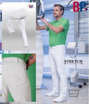 Jean homme 5 poches, Coupe seyante, Confort stretch, Rivets, Surpiqûre