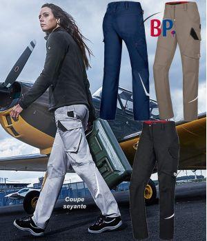 Pantalon de travail femme, Coupe seyante, Liberté de mouvement optimale