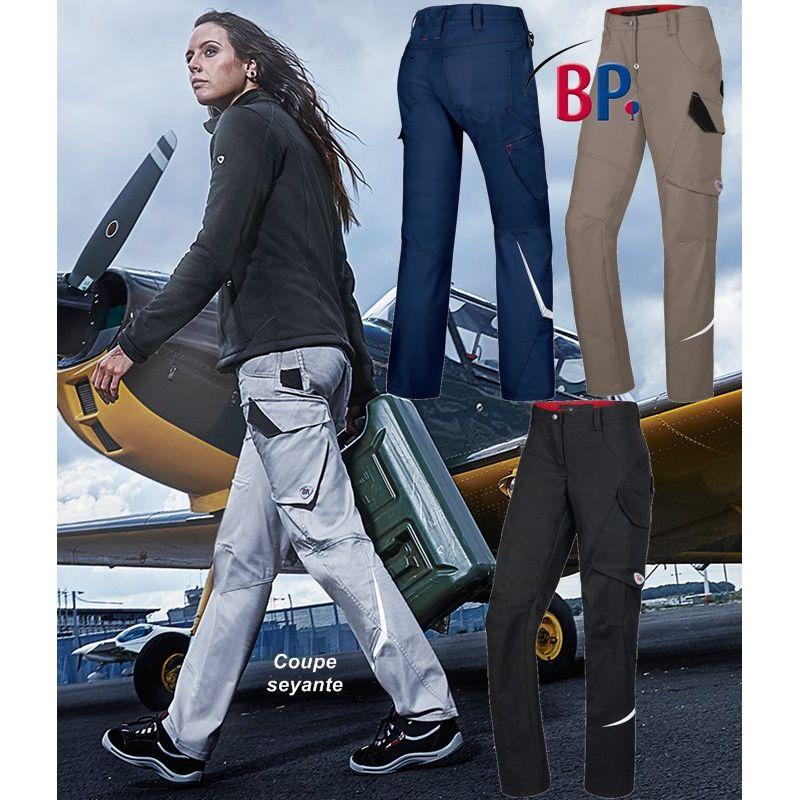 pantalon de travail femme coupe seyante libert de mouvement optimale. Black Bedroom Furniture Sets. Home Design Ideas