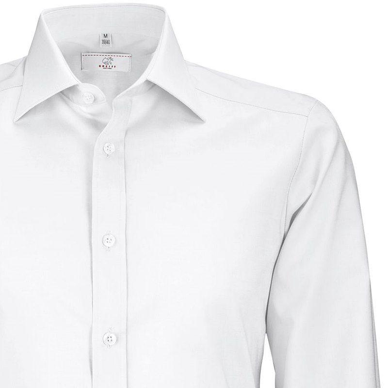 chemise blanche homme nouveau col kent slimfit manches longues. Black Bedroom Furniture Sets. Home Design Ideas